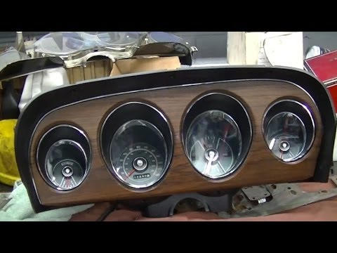 1969 Mustang Restoration Instrument Panel Gauge Cluster Part 56
