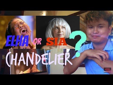 Elha Nypmha Sings Chandelier (REACTION VIDEO) - YouTube