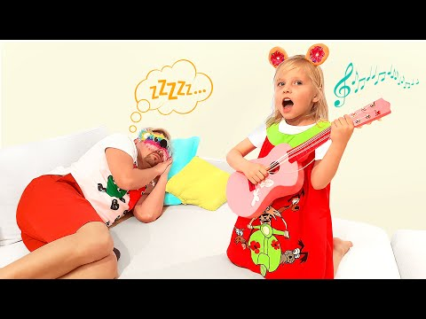 Alice plays musical instruments and prevents dad from sleeping
