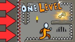 Побег СТИКМЕНА ИЗ ТЮРЬМЫ #2 Новые ТАЙНЫ и ЗАГАДКИ в Игре One LEVEL от Cool GAMES