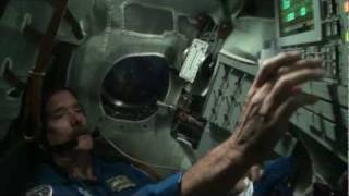 CSA Astronaut Chris Hadfield trains in a Soyuz Simulator in Star City, Russia