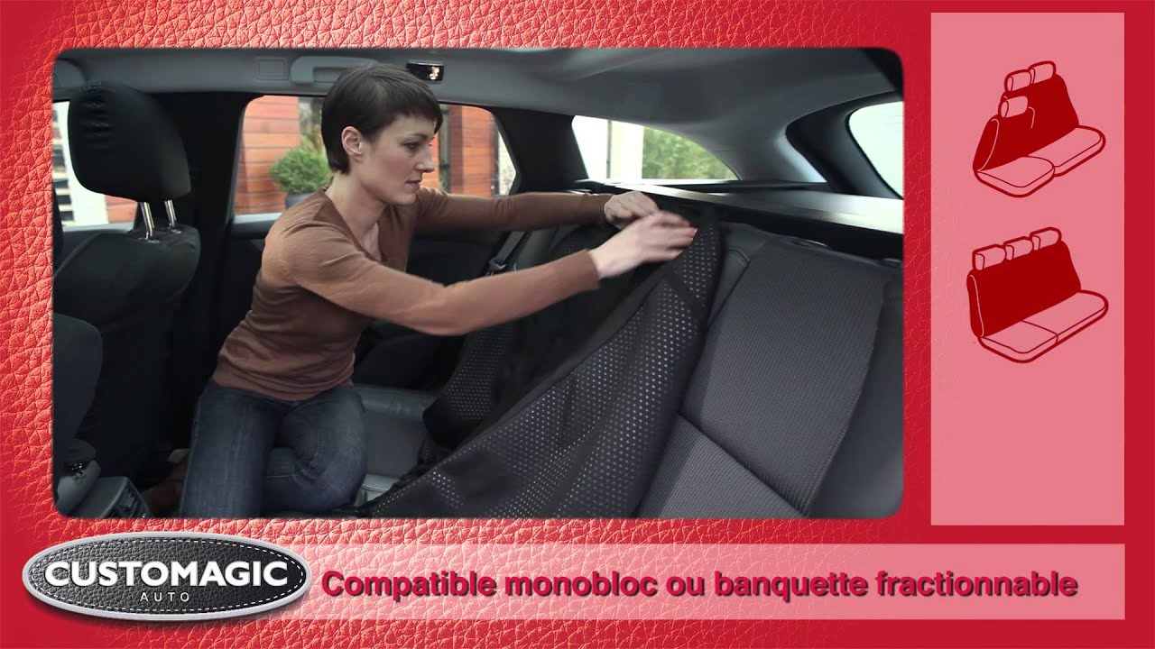 Housse de si ges auto customagic youtube for Housse siege auto