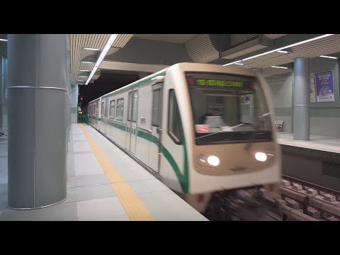Bulgaria, Sofia, Metro ride from Интер Експо Център - Цариградско шосе to Дружба