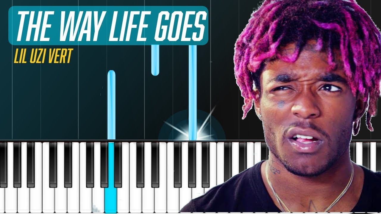 Lil Uzi Vert - `The Way Life Goes` Piano Tutorial - Chords - How To Play -  Cover