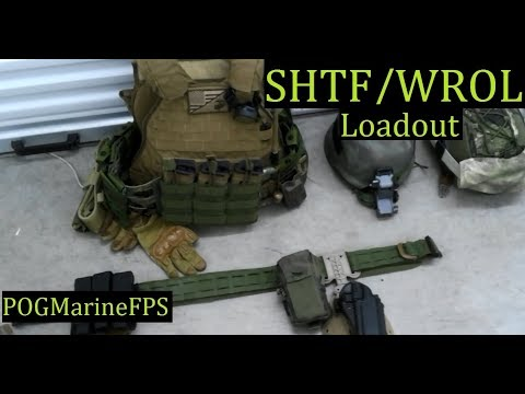 Active Duty Marine's Personal Gear Load-out SHTF WROL Emergency Armor  Rifle And Handgun