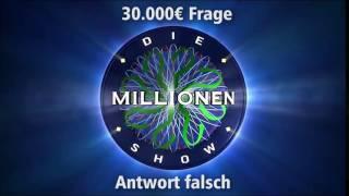 30.000€ Frage - Antwort falsch | Millionenshow Soundeffect