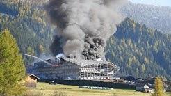 Brand & Wiederaufbau der Talstation Nauders