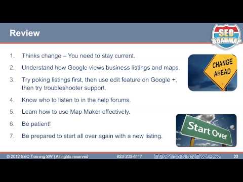 How to Fix Problems in Google Places Online SEO Training Video