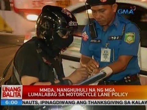 UB: MMDA, nanghuhuli na ng mga lumalabag sa motorcycle lane policy
