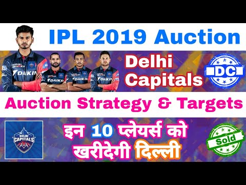 IPL 2019 Auction - Delhi Capitals Auction Strategy & 10 Targeting Players | MY cricket production