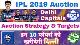 IPL 2019 Auction Delhi Capitals Auction Strategy & 10 Targeting Players | MY cricket production