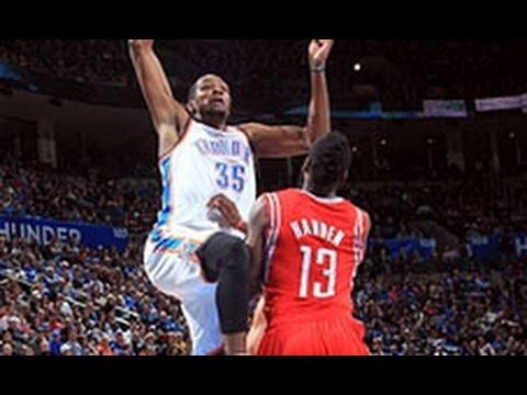 kevin durants big dunk on james harden youtube