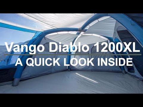 A quick look inside the MASSIVE Vango Diablo 1200XL inflatable tent