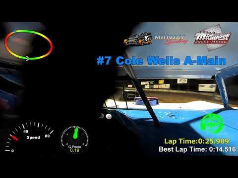 #7 Cole Wells A-Main Malvern Bank Cash Money SuperDirt Lebanon Midway Speedway