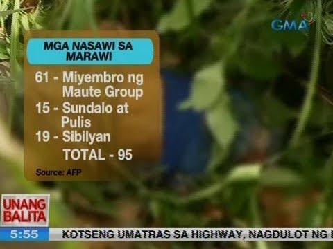 UB: Bilang ng nasawi sa Marawi City, nasa 95 na