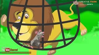 Maus & Lion | [Sher Aur Chuha] [Comic-Geschichten] & Reime Für Kinder In Hindi und Urdu
