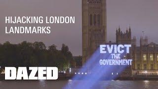 #AddressTheNation Dazed projects statements onto Parliament