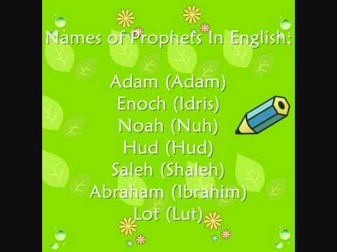 The Names of 25 Prophets Mentioned in the Quran, Rahmah Muslim Homeschool