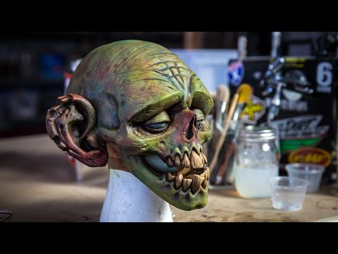 How to Paint a Latex Zombie Mask!