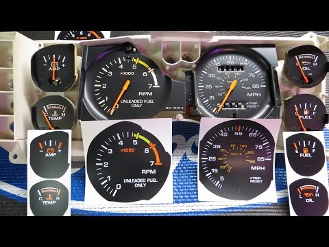 1986 Mustang GT - Cluster Gauge Overlay Kit and Needle Paint