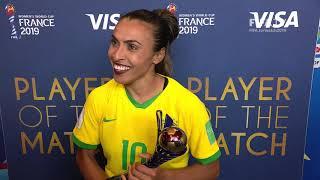Marta – Player of the Match – Italy v Brazil