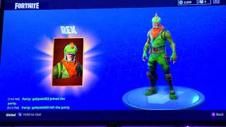 REX AND SCALY SKIN GAMEPLAY!?! FORTNITE BATTLE ROYALE