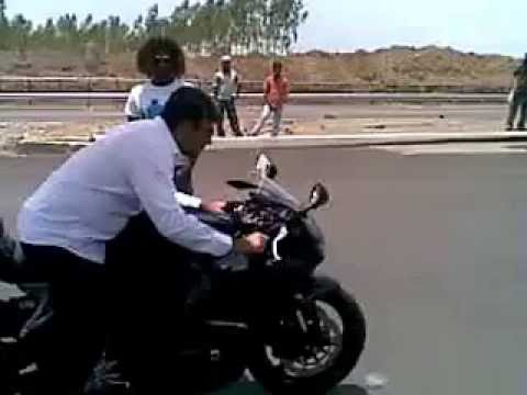thala ajith bike riding. ajith showing his skills during the shoot