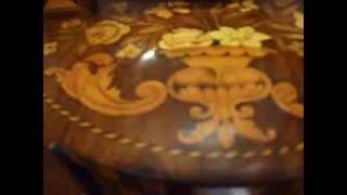 Antique Dutch Marquetry Dressing Mirror