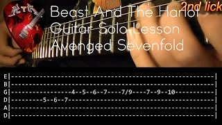 Beast And The Harlot Guitar Solo Lesson - Avenged Sevenfold (with tabs)