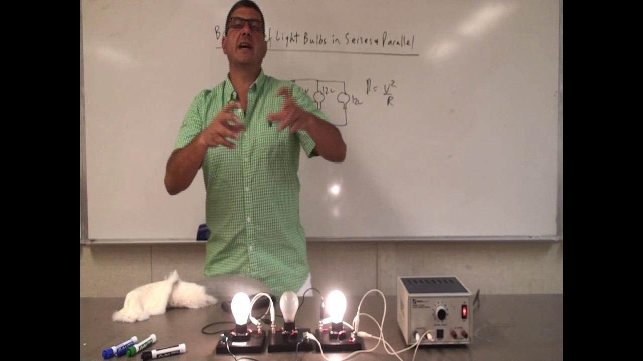 Brightness Of Light Bulbs In Series And Parallel Youtube Also A Circuit The Are Brighter Because Current