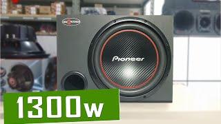 caixa de som subwoofer pioneer 1300w ts w304r sound bass