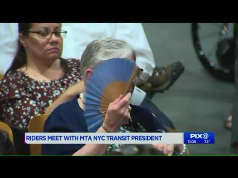 Riders meet with MTA NYC Transit President