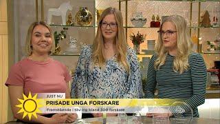 De tre unga forskarna Vilma Lagebro, Josephine Berg och Puck Norell...