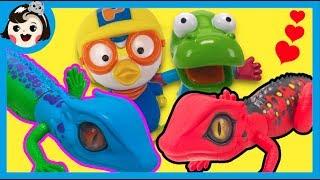 [A dda dda Toys]Lizard Robo Alive, the Pororo and crong´s new hussy friend