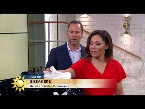Sneakers - åtråvärda samlarobjekt och trendigare än någonsin - Nyhetsmorgon (TV4)
