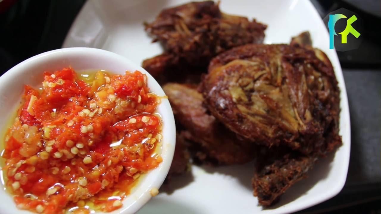 resep sambal korek (sambal ayam dan bebek goreng) - YouTube
