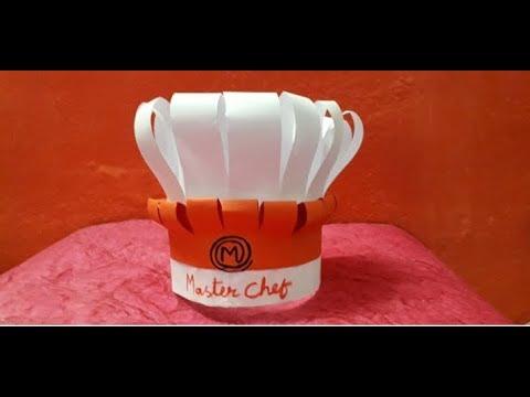 How to make a master chef cap || DIY  paper master chef cap || DIY cooking cap