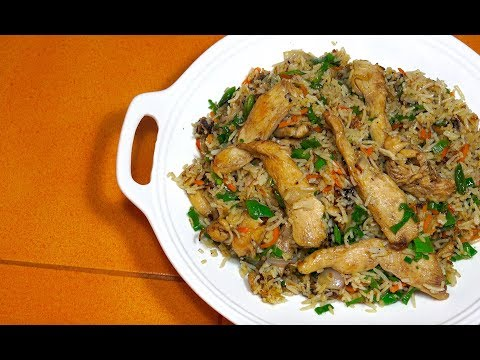 Chicken Fried Rice - How to make Chicken Fried Rice - Chinese Chicken Rice - Chicken veg rice