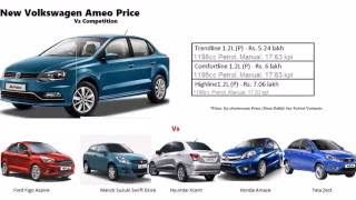 Volkswagon Ameo Price Comparison With Competition