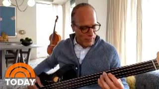 Lester Holt Jams On Bass Guitar For Kelly Clarkson | TODAY