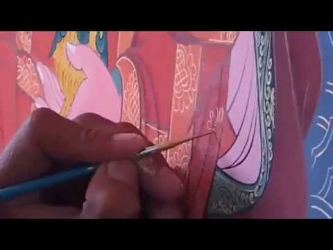 Thangka Painting Students At National Institute For Zorig Chusum