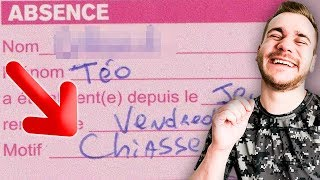 LES PIRES EXCUSES DE RETARD & D'ABSENCE EN COURS !