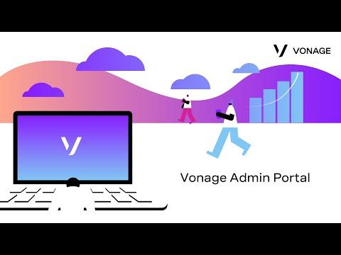 Vonage Admin Portal