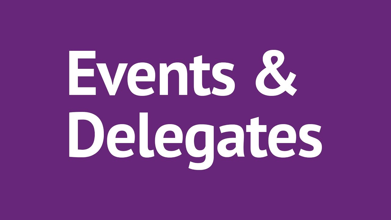 C# Events and Delegates Made Simple