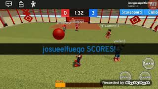 Playing football in Roblox (read description)