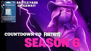 COUNTDOWN TO FORTNITE SEASON 6! (25$ Psn Giveaway) | *XBOX & PS4 CROSSPLAY AVAILABLE NOW!*