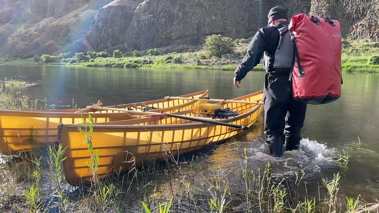 John Day River Trip in Skin on Frame Canoes, May 2021