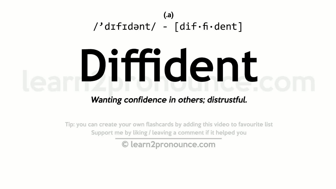 Captivating Diffident Pronunciation And Definition