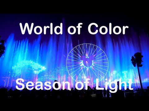 NEW! 2017 World of Color - Season of Light Holiday Show at Disney California Adventure (4K)