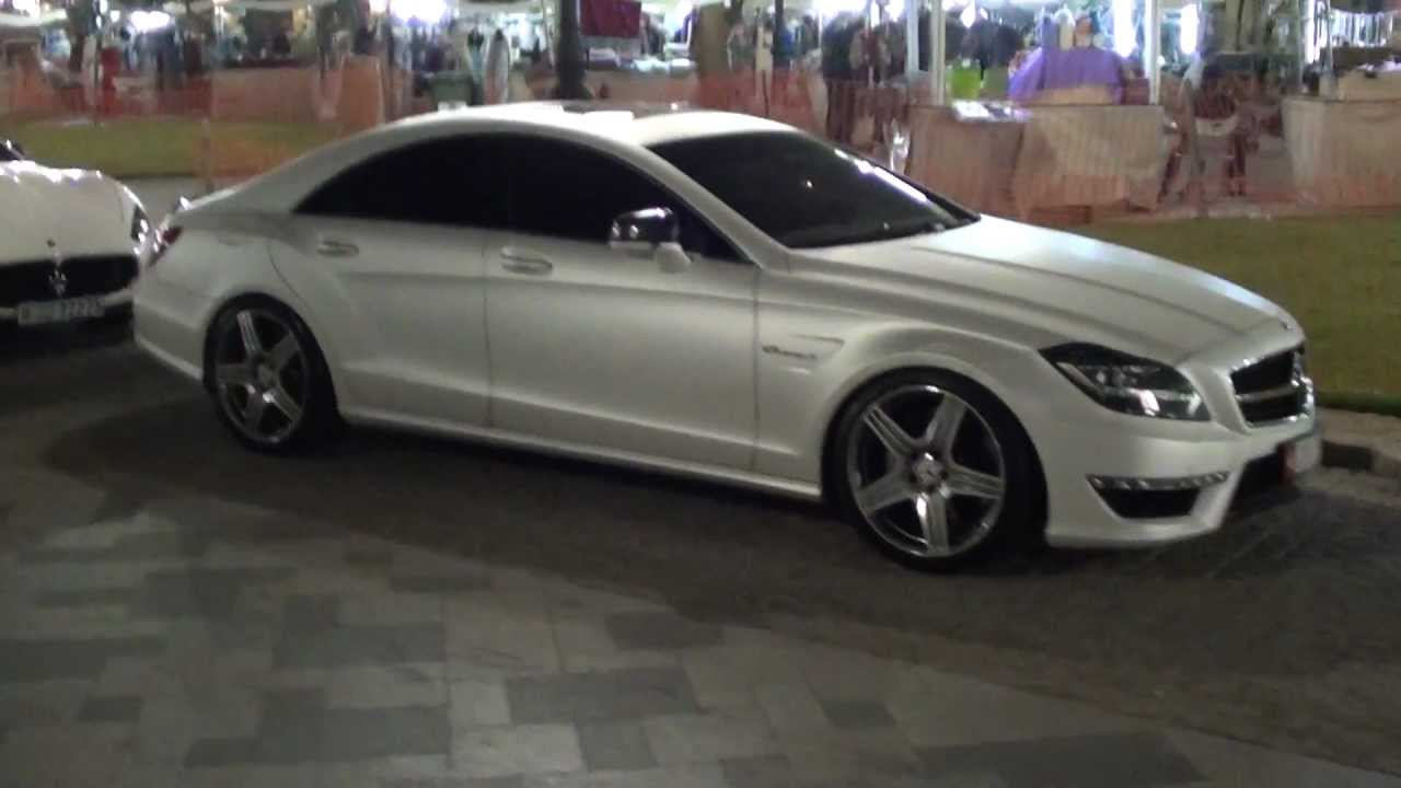 Awesome Perl Matte White Cls 63 Amg Mercedes Benz Dubai Marina Youtube